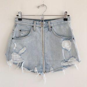 NWT LF Carmar Zuni Beatrice Denim Mini Skirt 27